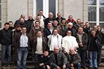 Photo de groupe des club présents lors de la réunion inter clubs 2013